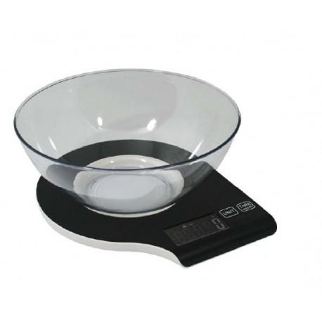 Bascula de cocina digital con bol 5 Kg. AR880 Negro
