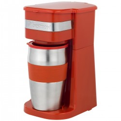 Cafetera personal con taza de acero inoxidable. ACM111R