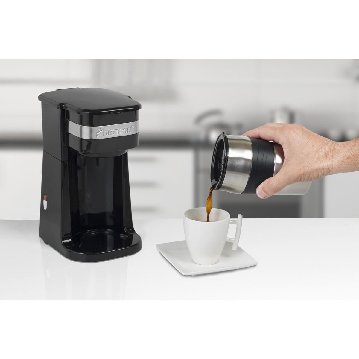 Cafetera 1 servicio con taza de acero inoxidable acm111z bestron - Cafetera con molinillo incorporado ...