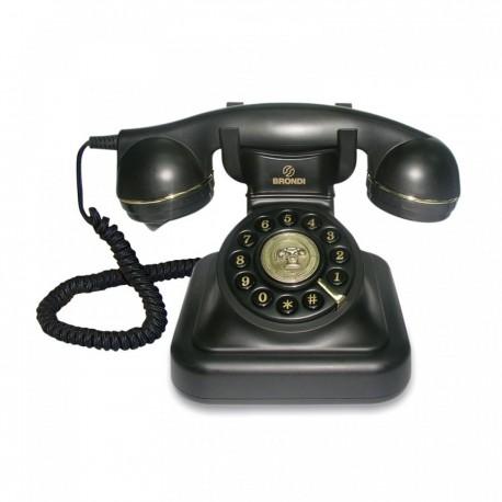 Telefono Sobremesa Retro. VINTAGE20Negro Brondi