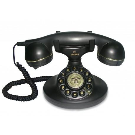 Telefono Sobremesa Retro. VINTAGE10 Brondi Negro