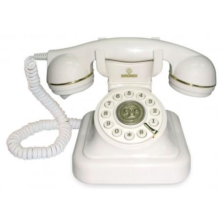 Telefono Sobremesa Vintage 20 Brondi Blanco