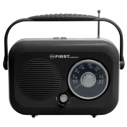 Radio Tipo retro AM-FM Negra. FA1906 First Austria