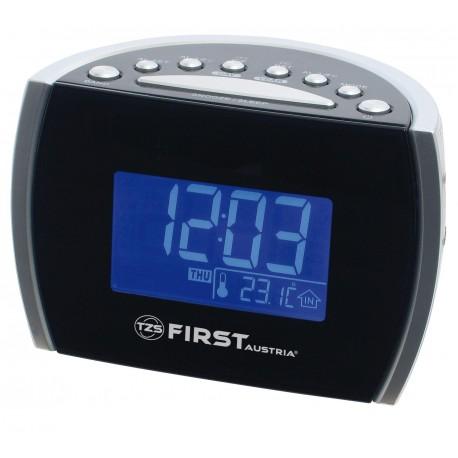 Radio reloj AM-FM con alarma y temperatura. FA2420-2 First Austria