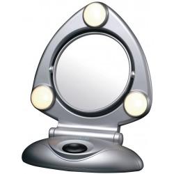 Espejo 15 cm Abatible de 2 Aumentos con luz. ARM295