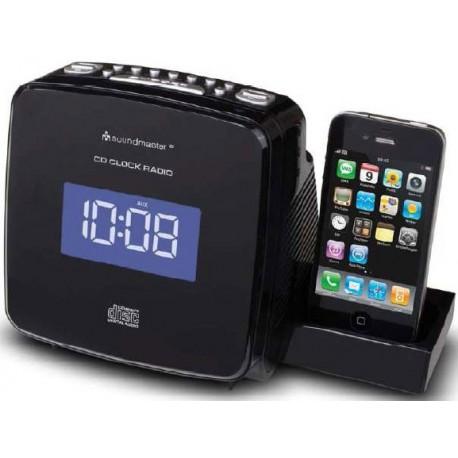 Radio Reloj CD MP3 con base iPod - iPhone. URD810IP Soundmaster