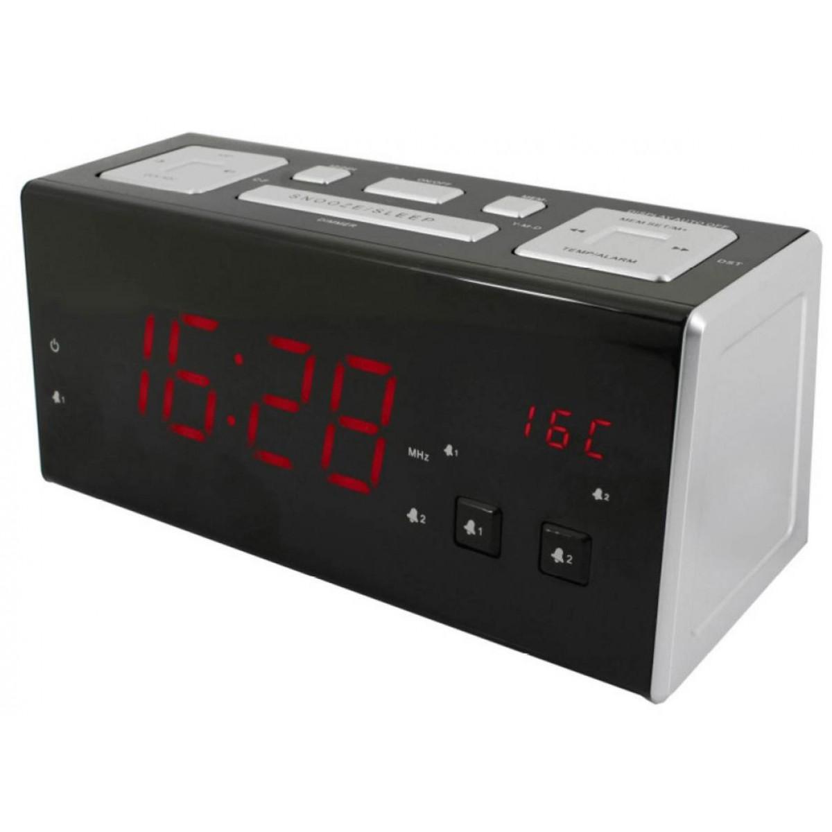 Electrohome De Carga Usb Radio Reloj Despertador
