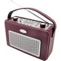 Radio AM-FM con USB recubierto de polipiel Rojo Burdeos. TR50BO