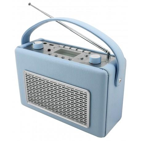 Radio AM-FM con USB polipiel Azul Claro. TR50HBL Soundmaster