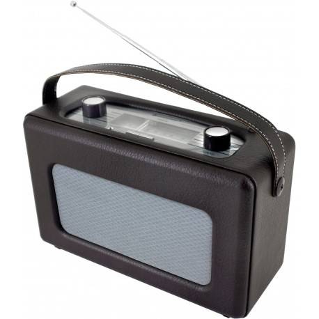 Radio analogica de piel sintetica. TR85DBR Soundmaster