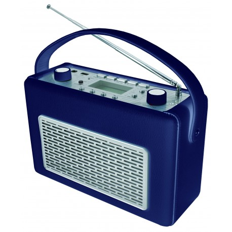 Radio AM-FM con USB  polipiel Azul. TR50DBL Soundmaster