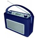 Radio AM-FM con USB recubierto de polipiel Azul. TR50DBL