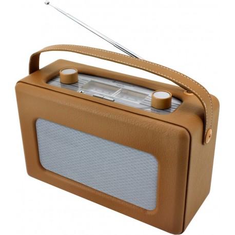 Radio Analogica piel sintetica Marron. TR85HBR Soundmaster