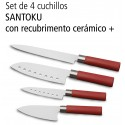 Set de cuchillos ceramicos 4 piezas Santoku.C01003-22CC4P