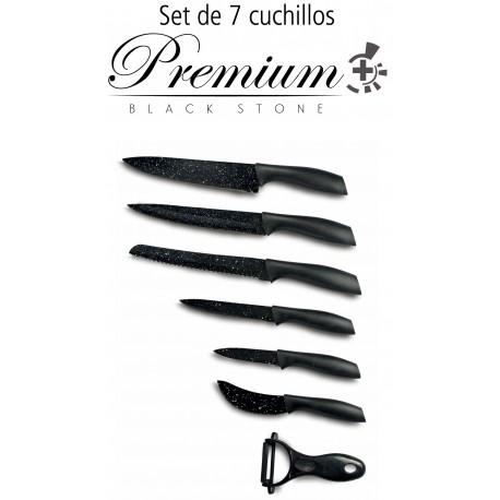 Set de 6 cuchillos profesionales + Pelador Premium Black.C01022