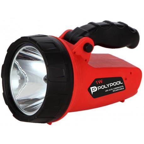 Linterna recargable portatil LED 1W 100lm Lumens PP3170 Polypool