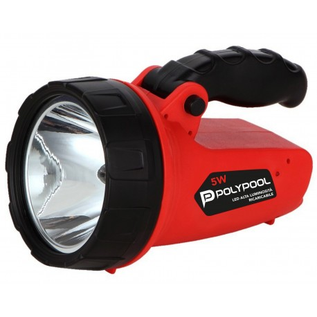 Linterna recargable portatil LED 5W 350lm PP3172 Polypool