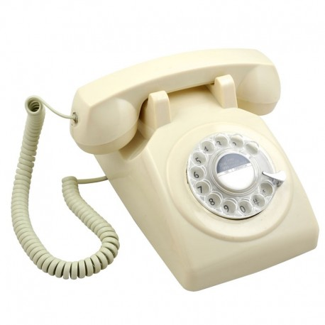 Telefono Retro 1970 Marfil