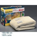 Calienta camas electrico 150X160 cm 100 % Lana. AR422